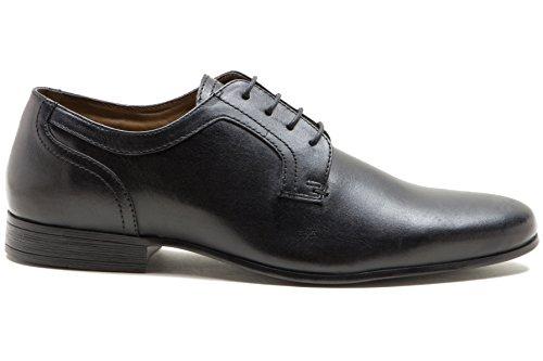 Red Tape Men's Coley Black Plain Vamp Gibson Leather Shoe