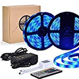LED Streifen, 10M LED Strip Wasserdicht LED Band SMD 5050 300 LED RGB LED Stripes mit 20 verschiedenen Farbeinstellungen und 44 Mode Fernbedienung für Dekoration Beleuchtung Bar Restaurant Party Bett