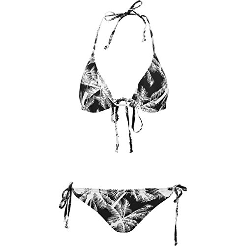 URBAN CLASSICS Costume mare donna Ladies Palm Bikini TB1485 (XS)