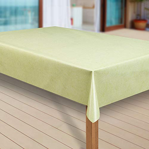 laro Wachstuch-Tischdecke Abwaschbar Garten-Tischdecke Wachstischdecke PVC Plastik-Tischdecken Eckig Meterware Wasserabweisend Abwischbar G05, Größe:40x40 cm Muster, Muster:Uni grün meliert