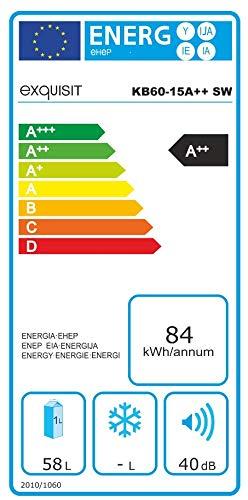Exquisit KB 60-15 A++ Schwarz Kühlbox, A++, 58 Liter