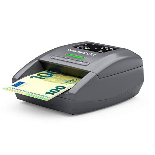 Detectalia D7X Detector de billetes falsos listo para los nuevos billetes de 100 y 200 euros. Con 100% de detección en pruebas oficiales del Banco Central Europeo