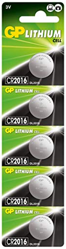 GP Lithium Pile 3V CR2016 - Lot de 5