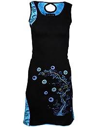 DAMEN-ärmelloses Kleid mit Stickerei
