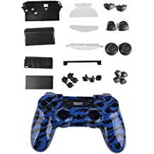 Kit Cáscara Cubierta Funda Protectora Botón Para Mando PS4 Playstation4 Azul
