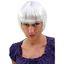 WIG ME UP ® - Peluca, bob en rubio platino (7804-B80)