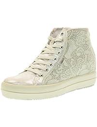 IGI CO Scarpe Donna Sneakers Alte con Zeppa Interna 78351 00 Argento 9fcdab11def
