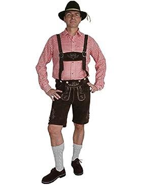 Kurze Hose im Trachtenstil mit Träger und Knopfleiste
