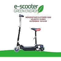 MONOPATTINO ELETTRICO 24 V 120W E-SCOOTER BICICLETTA ELETTRICA FULL OPTIONAL NERO