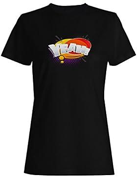 Sí, divertido, discurso, novedad, nuevo, arte, vendimia camiseta de las mujeres c366f