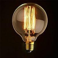 HWAMART ™ HL108 40W G125 tungsteno & Ф12.5cm lampadina annata vetro retrò vecchio stile Edison E27 vite 220V - lampada antica scoiattolo gabbia di vetro a filamento di tungsteno (HL108)