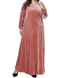 Qianliniuinc Abaya Donna Islamico Maxi Dress-Inverno Vestiti Musulmani  Gonna Lunga Caldo Arabo Costume 0a81f229e53