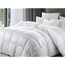 Home & Bath Co. King Size Luxury White Goose Feather & Down Duvet All Seasons (9 Tog + 4.5 Tog) 13.5 Tog Anti Dust Mite & Down Proof Fabric 220 Cm x 230 Cm Winter and Summer Togs
