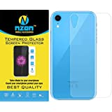 nzon iPhone XR Tempered Glass Edge to Edge[Full Coverage][Original][Anti Glare][Anti Fingerprint] Tempered Glass Screen Protectors for iPhone XR (Back Tempered Glass)