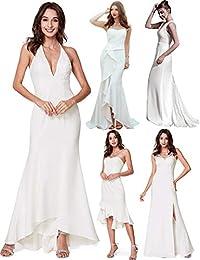 4edfab898ac7 Ever-Pretty Vestito da Sera Lungo Donna Senza Spalline Ricamato Senza  Maniche 07232