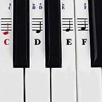 Calcomanías De Piano Para Teclados De 49 / 61/ 76 / 88 Teclas – Transparentes Y Removibles Con Ebook Gratuito De Piano