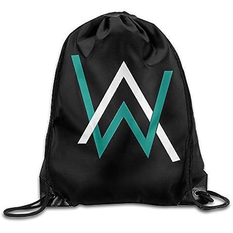 Canace Alan Walker Classic Logo deportes al aire libre cordón bolsas mochila, Blanco, talla única