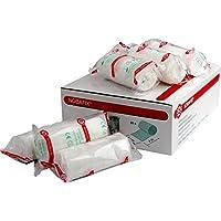 Nobafix 410340 - 20 Stück Mullbinden Fixierbinden 4 cm x 4 m einzeln in Folie verpackt preisvergleich bei billige-tabletten.eu