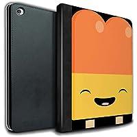STUFF4 PU Pelle Custodia/Cover/Caso Libro per Apple iPad Air 2 tablet / Ghiacciolo / Cibo Kawaii disegno