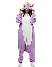 Landove Pijama de Una Pieza Adulto Unisexo Trajes Animales Mono Cosplay Kigurumi Onesie con Capucha Jumpsuit