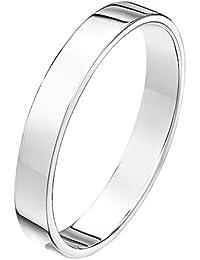 Theia Unisex Heavy Flat Court Shape Polished 18 ct Gold Wedding Ring