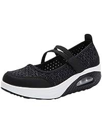 Zapatillas para Mujer Deportivo Verano Plataforma Cuña Merceditas 2018 Moda PAOLIAN Zapatos Casual Talla Grande Señora