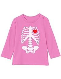 Camiseta bebé Unisex Manga Larga - Prenda Estampada Esqueleto - Perefecta  para Bebés ... fcee727bd2e1e