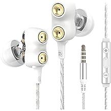 Langsdom D2 Auriculares In-Ear Doble Controlador Dinámico con Extra Bass, Control de Volumen