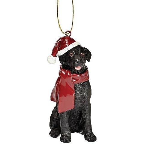 Progettare Toscano JH576310 cane Labrador decorazioni festive decorazioni natalizie, nero
