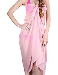 9b34365b72 Hibote Chiffon Sarong Cover-Ups Women's Swimwear Beach Holiday Sunscreen Dress  Swimwear Wrap, Size