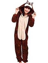 Samgu-Esprit de la fleur rat animal Pyjama Cospaly Party Fleece Costume Deguisement Adulte Unisexe