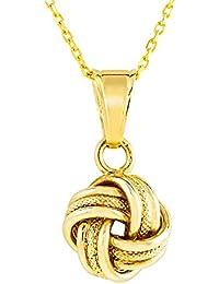 Bella Donna Damen-Halskette mit Anhänger 375 Gold