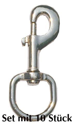 Mousqueton bolzenkarabinerhaken de 10 mousquetons et anneau: env. 25 mm à 95 mm