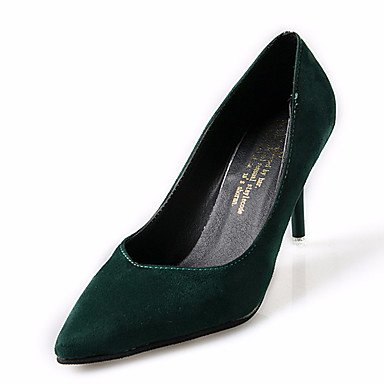 LvYuan-ggx Da donna Sandali Comoda PU (Poliuretano) Estate Tempo libero Footing A stiletto Nero Grigio Verde Rosa Meno di 2,5 cm Green