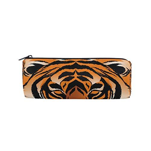 Bonipe Federmäppchen mit Bengal-Tiger-Streifen, für Schule, Schreibwaren, Stiftebox, Reißverschluss