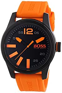 BOSS Orange - 1513047 - Montre Homme - Quartz - Analogique - Bracelet Silicone Orange