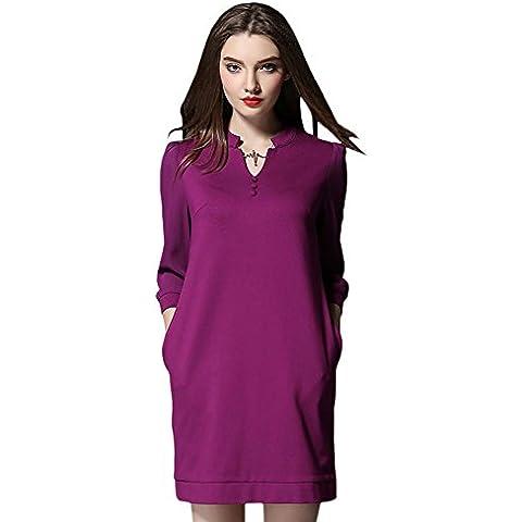 FuYongsanni della camicia Donne lunga primavera e l'estate della moda retrò casuale gonna 189