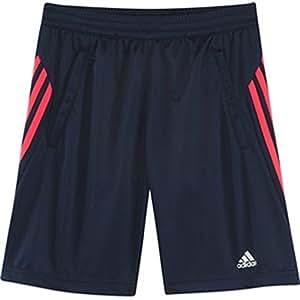 Adidas YB CQ Sho KN–Pantalon court de produits d'entraînement pour enfant, couleur BLEU MARINE, YB CQ SHO KN, bleu marine