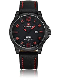 Caja de regalo de lujo Neotrix NAVIFORCE de los hombres de acero inoxidable completo de Tiempo Dual LED resistente al agua Reloj Militar - relojes de los deportes de color negro y plateado