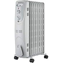 Haverland NYEC9 - Radiador de aceite, termofluido c/ruedas, 2000W