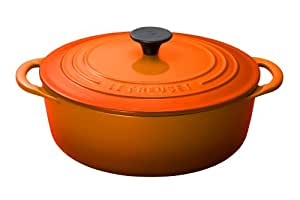 le creuset bistro faitout en fonte orange volcanique 22 cm cuisine maison. Black Bedroom Furniture Sets. Home Design Ideas