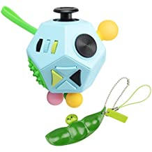 Fidget Toys Cube Six Sided Fidget Toys Anti Stress Magic Cube Figet Toys Squeeze Fun Stress Reliever Toys For Children And Adults with ADHD ADD OCD Autism(Comes with peas)