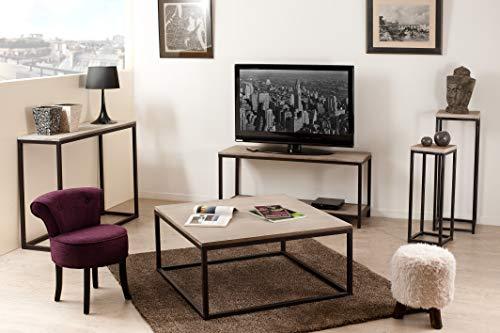 MACABANE Meuble TV avec Tablette, Bois, 40 x 120 x 55 cm