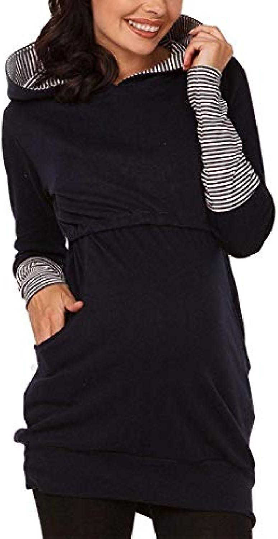 ... Felpa con Cappuccio da da Cappuccio Donna Inverno Autunno Caldo  Gestante Casual maternità Allatta Vestiti Felpe 867f6f1928b
