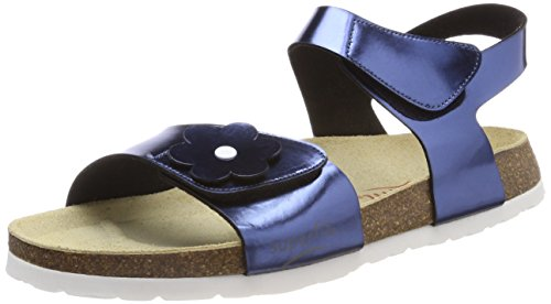 Superfit Mädchen Fussbettpantoffel Offene Sandalen, Blau (Ocean), 32 EU (Sandalen Blaue)