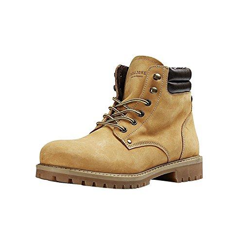 2393a50c7e9098 JACK   JONES Herren Jfwstoke Nubuck Boot Honey Klassische Stiefel Gelb  (Honey)