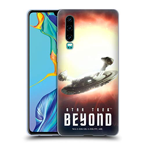 Head Case Designs Officiel Star Trek USS Franklin Affiches Au-Delà de XIII  Étui Coque en Gel Molle pour Huawei P30