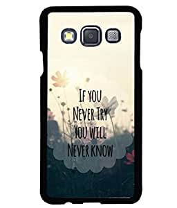 printtech Cool Quotes Life Back Case Cover for Samsung Galaxy A3::Samsung Galaxy A3 A300F