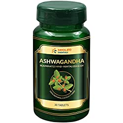 Medlife Essentials Ashwagandha For Anxiety & Stress Relief, Immunity, Fertility and Memory | 30 Tablets
