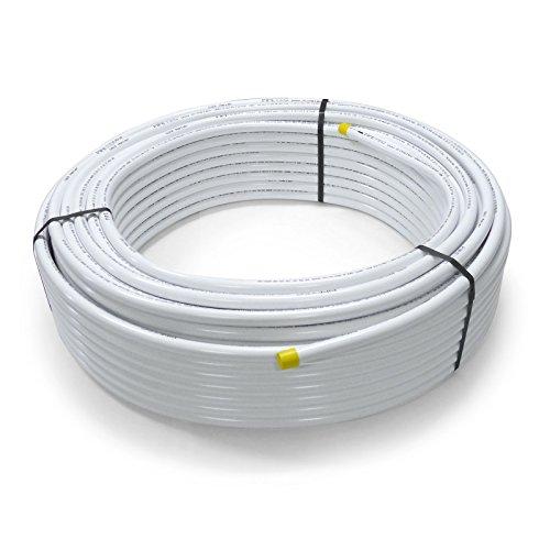 Pipetec Aluverbundrohr Aluminium Mehrschichtverbundrohr 16x2 mm 25m weiss PEX-Rohr Alu-Mehrschicht-Verbundrohr MV-Rohr Mehrschichtrohr Heizung Wasser -